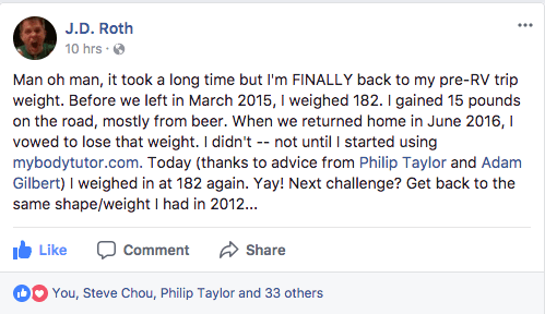 Facebook post from Roth