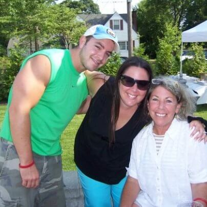 Adam with Mom & Sister, Age 24