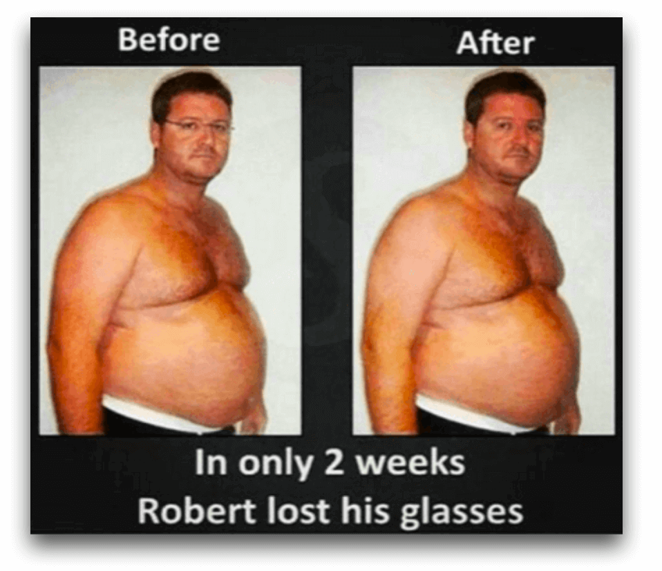 In only 2 weeks, Robert lost his glasses.